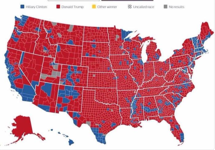 Valgkort Donald Trump