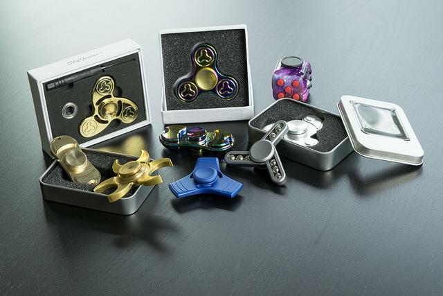 Forskellige fidget spinners