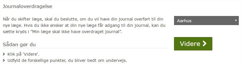 Journaloverdragelse borger.dk