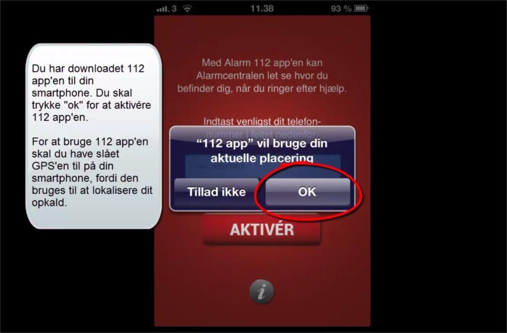 112 app screenshot