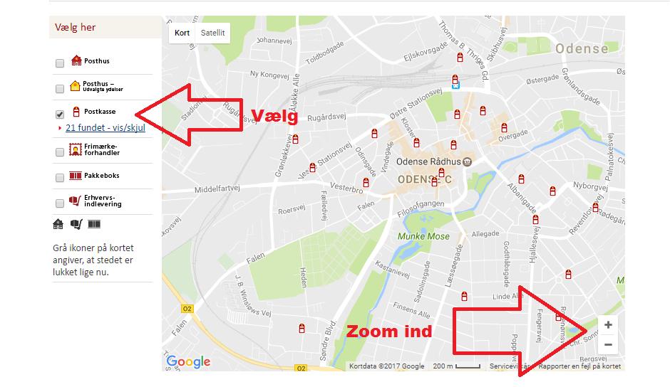 Find åbningstider, postkasser, pakkebokse og erhvervsindleveringer PostNord AB – Google Chrome