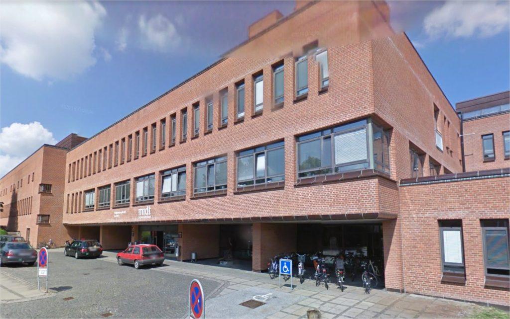 Indgangen til Randers Regionshospital
