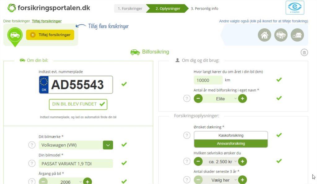 Indhent 3 Gratis tilbud på din bilforsikring – Google Chrome