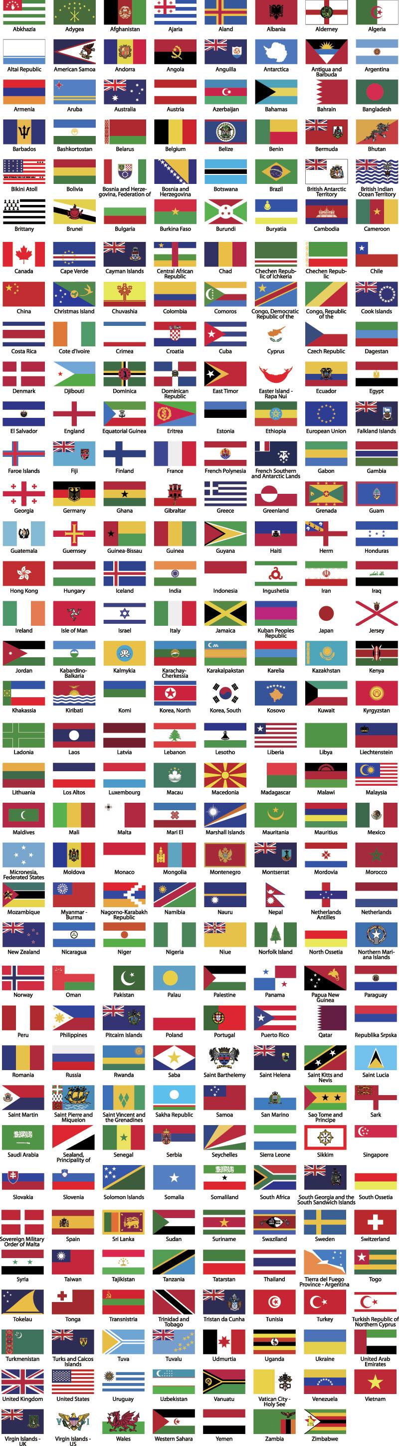 Alle verdens flag