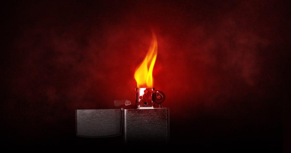 forbrænding lighter lys CO2