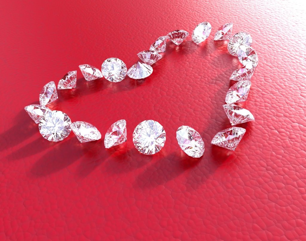 diamant diamanter rød kærlighed smykke penge