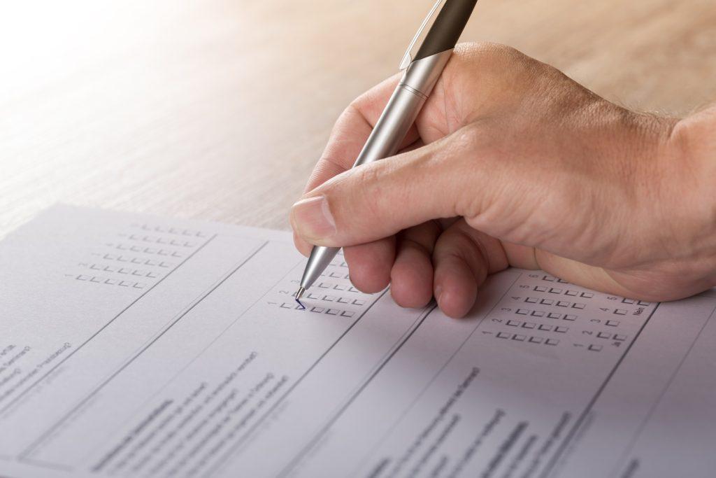 stemme papir spørgeskema valg demokrati